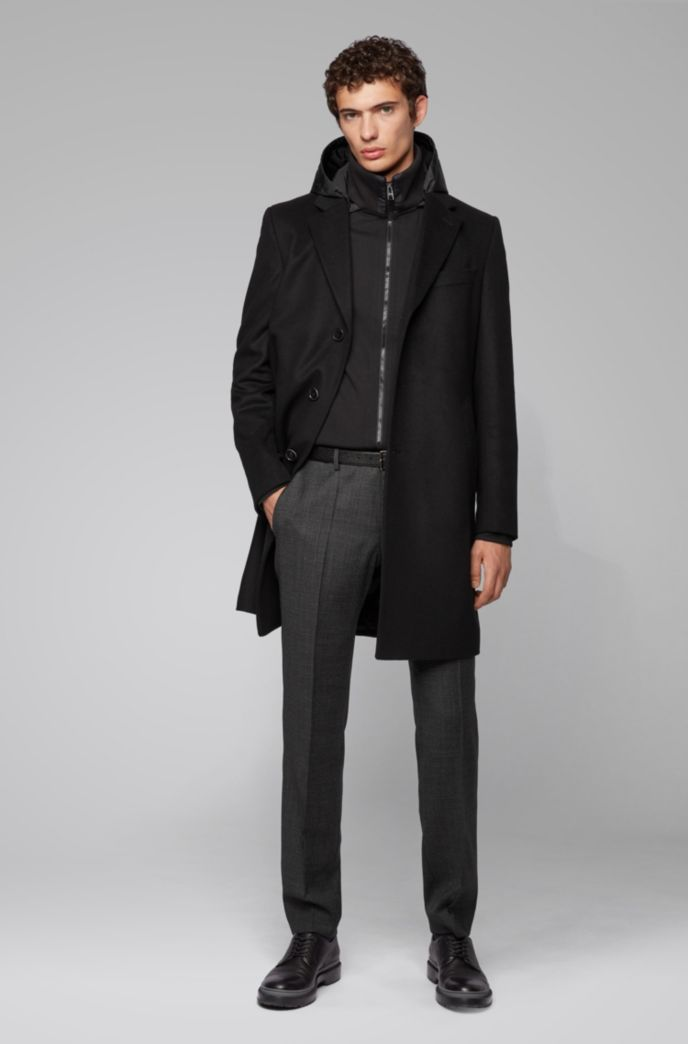 Hooded zip-through sweatshirt in a cotton blend