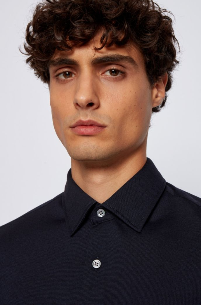 Regular-fit shirt in a cotton blend