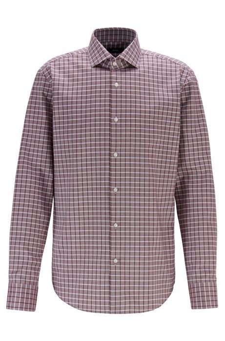 Regular-fit shirt in Fresh Active cotton, Dark Red