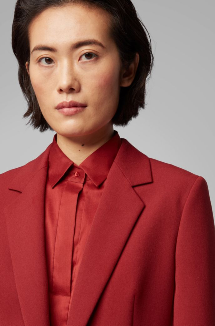 Regular-fit jacket in Portuguese twill with buttoned cuffs