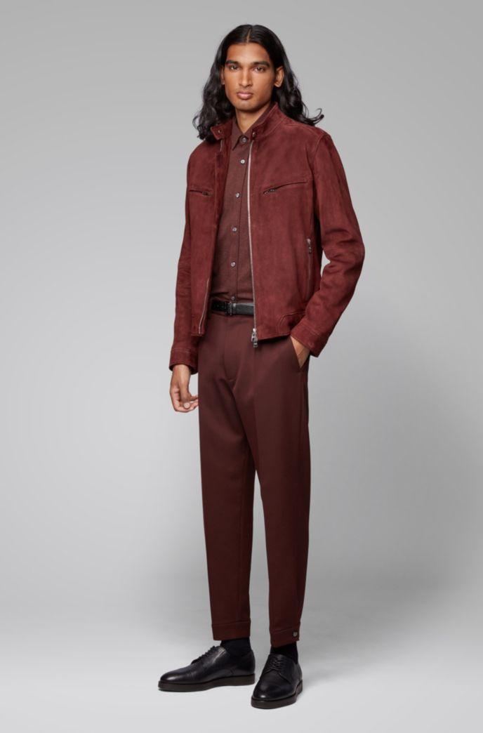 Regular-fit shirt in cotton-twill jersey