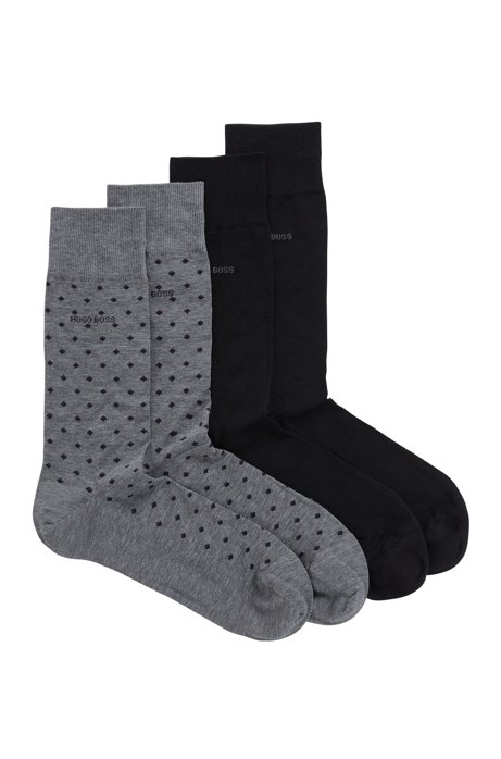 Two-pack of socks in a cotton-rich blend, Grey