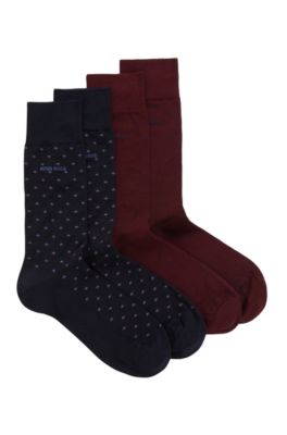 Two-pack of socks in a cotton-rich blend, Dark Blue