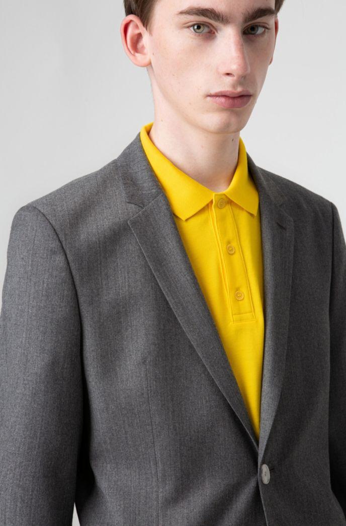 Extra-slim-fit jacket in wool flannel