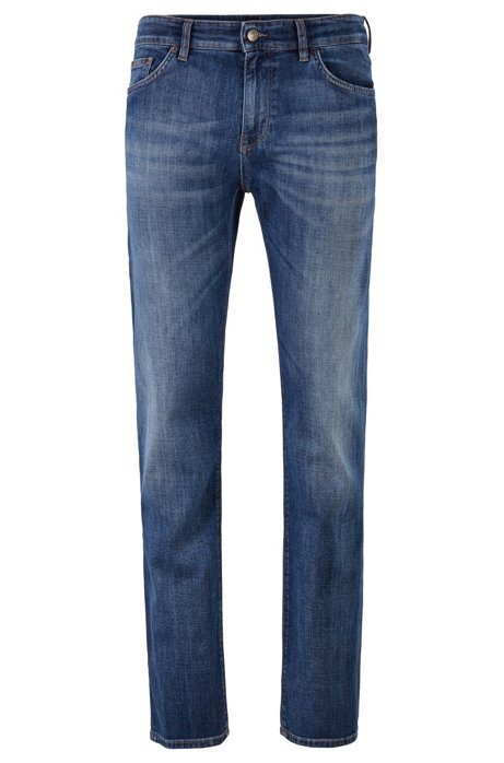 Regular-fit jeans in soft-touch Italian stretch denim, Blue