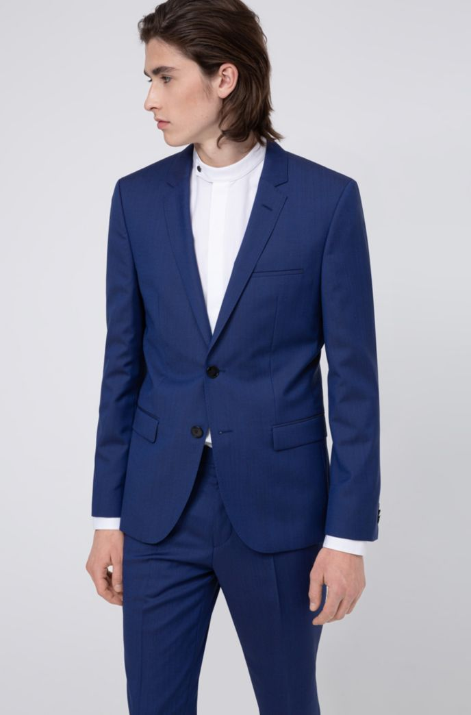 Extra-slim-fit suit in virgin-wool twill