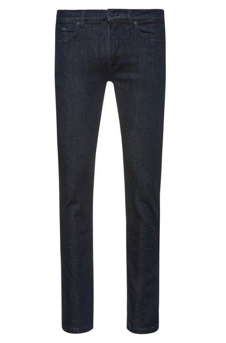 Skinny-fit low-rise jeans in dark-blue stretch denim, Dark Blue