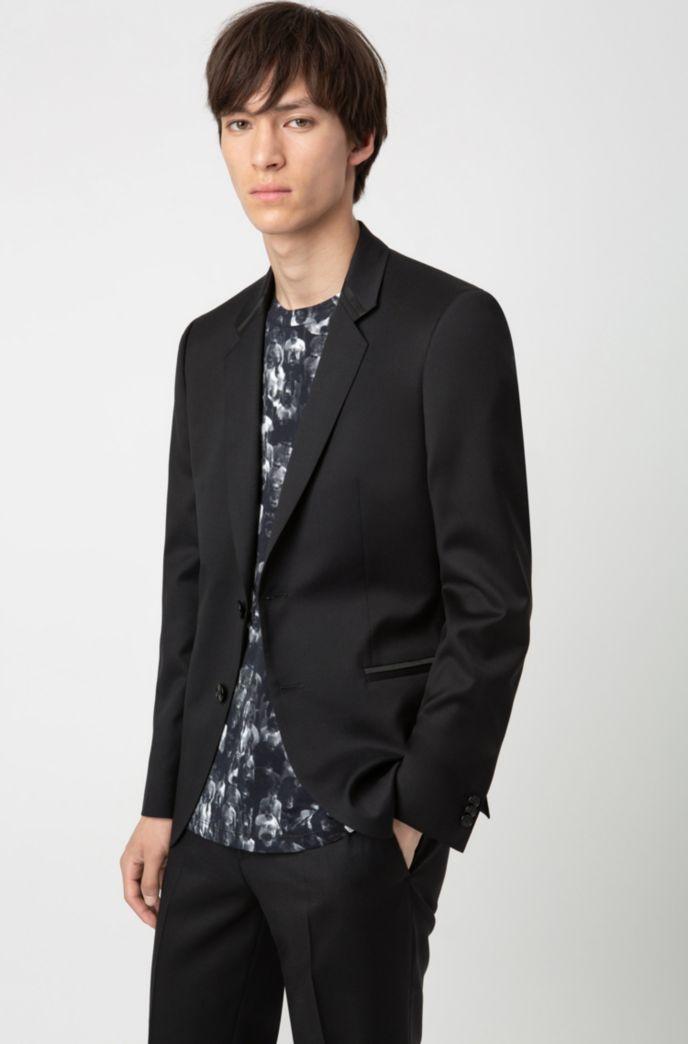 Extra-slim-fit dinner jacket in virgin-wool twill