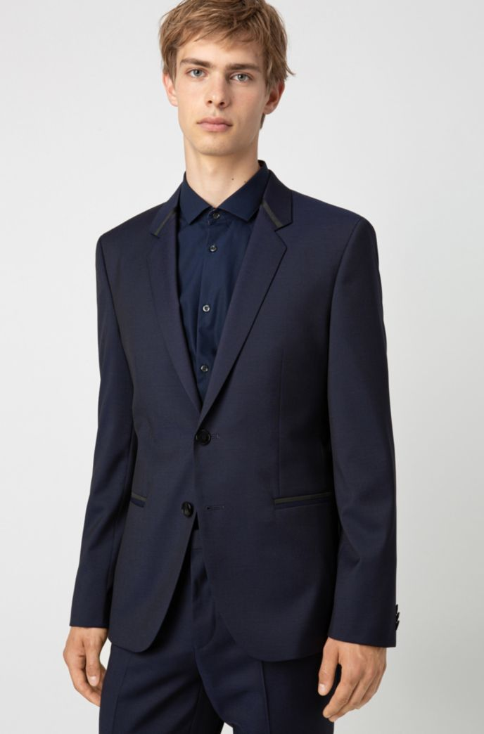 Extra-slim-fit dinner jacket in virgin-wool twill