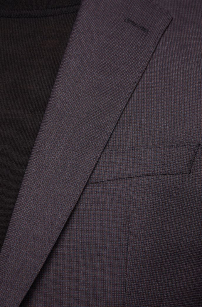 Regular-fit suit in micro-patterned wool