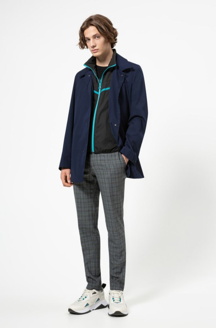 Two-in-one jacket with detachable bib