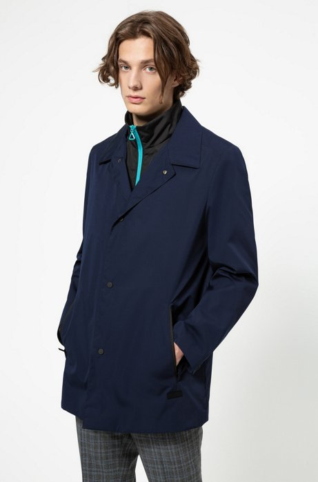 Two-in-one jacket with detachable bib, Dark Blue