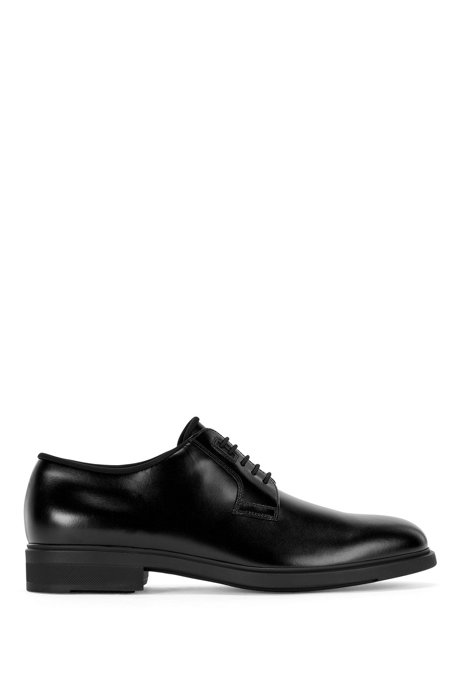 Italian-made leather Derby shoes with Outlast® lining, Black