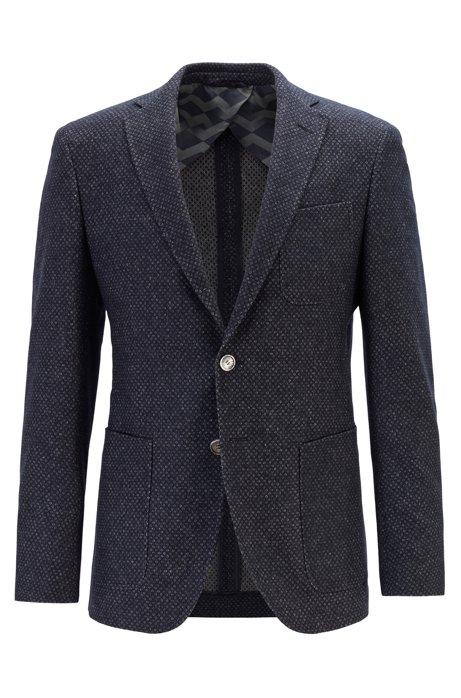 Extra-slim-fit jacket with chest pocket, Dark Blue