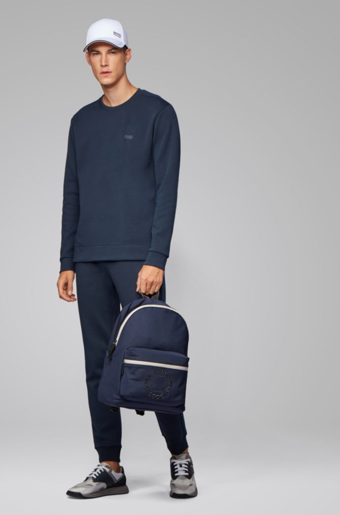 Backpack in structured nylon with logo detailing