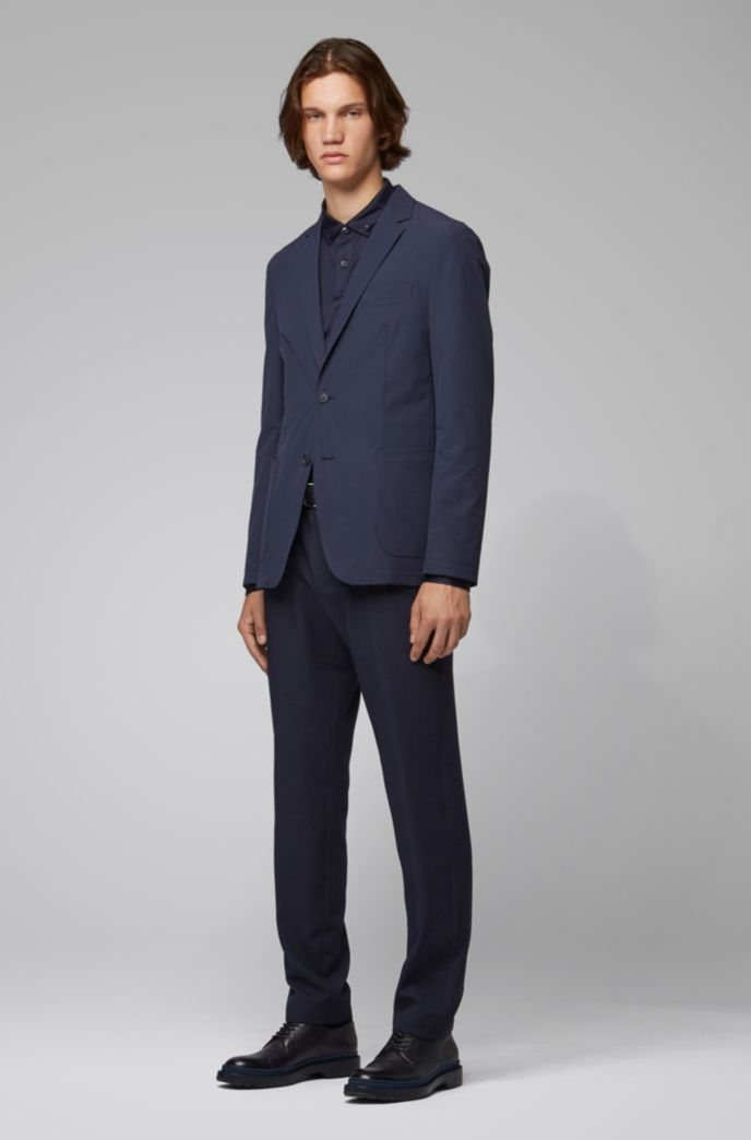 Packable slim-fit jacket in stretch fabric