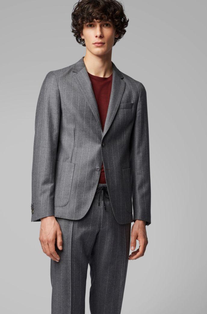 Slim-fit pinstripe jacket in a virgin-wool blend