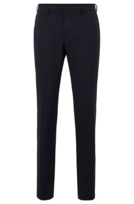 Slim-fit pants in machine-washable fabric, Dark Blue
