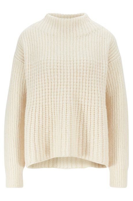 Relaxed-fit sweater in a wool blend, Natural