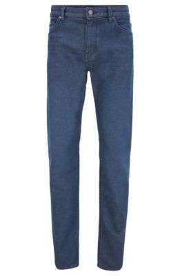 Regular-fit jeans in dark-blue stretch denim, Blue