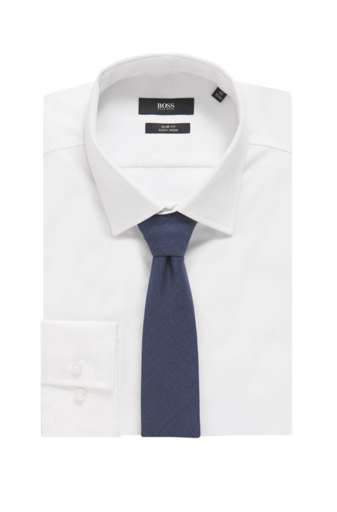 Italian-made unlined tie in traceable virgin wool