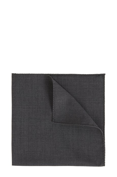 Pocket square in traceable Merino wool, Dark Blue