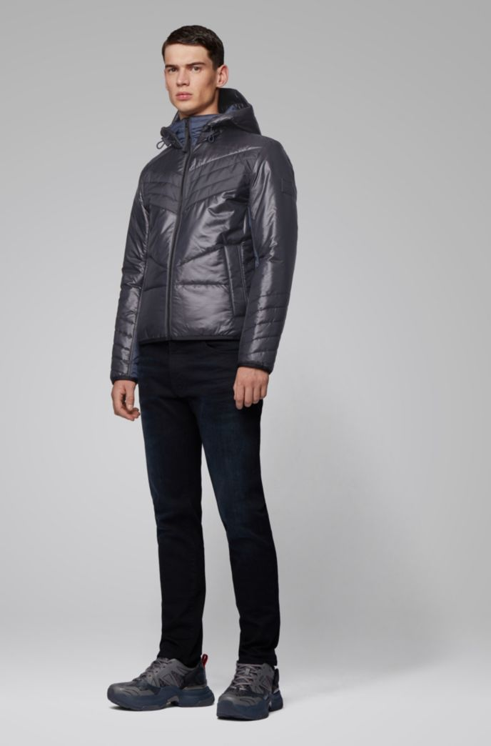 Hooded down jacket with PrimaLoft® padding