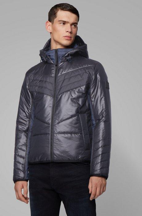 Hooded down jacket with PrimaLoft® padding, Black
