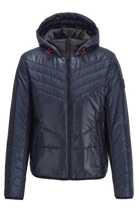 Hooded down jacket with PrimaLoft® padding, Dark Blue