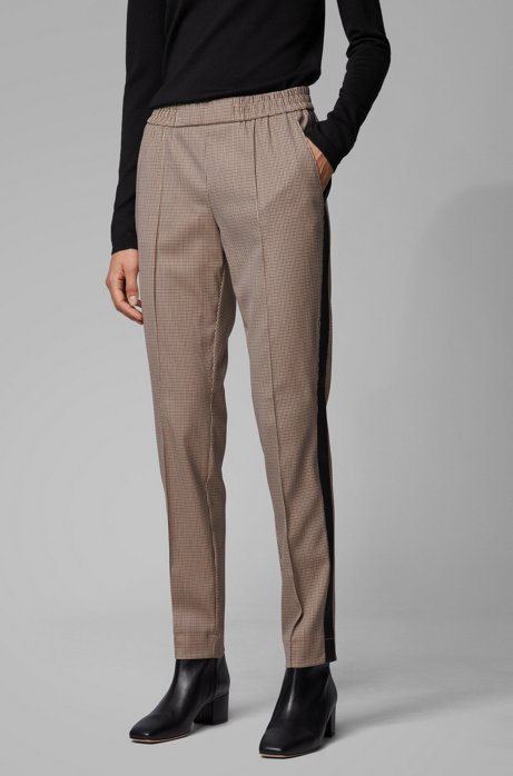 Relaxed-fit jogging-inspired pants with side stripes, Patterned