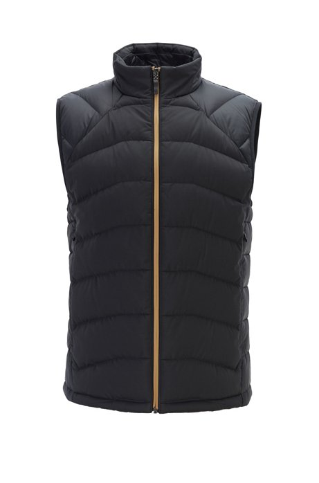 Link² quilted gilet with reflective details, Black