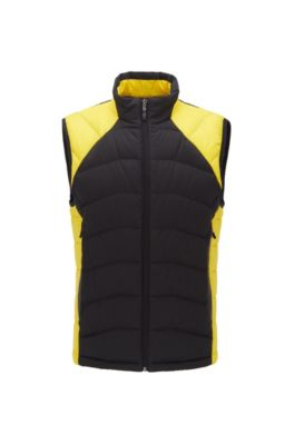 Link² quilted gilet with reflective details, Yellow