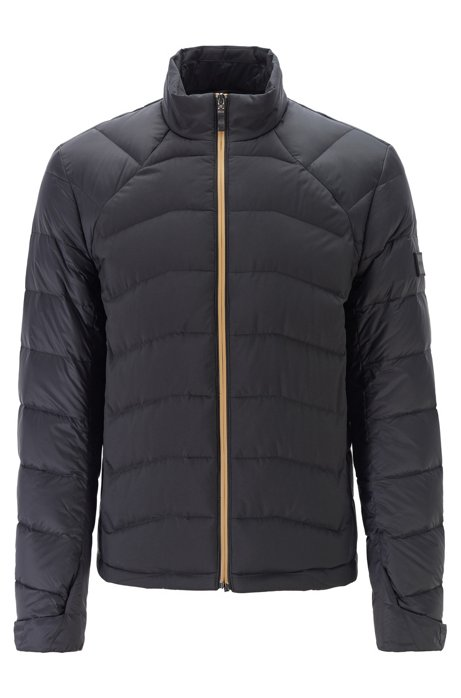 Link² quilted down jacket in water-repellent fabric, Black