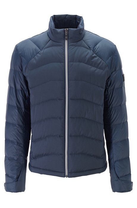 Link² quilted down jacket in water-repellent fabric, Dark Blue
