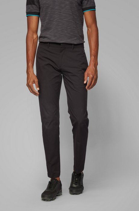 Extra-slim-fit pants in moisture-wicking ripstop fabric, Black