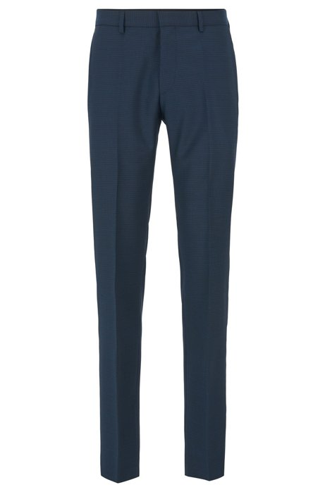 Slim-fit pants in virgin wool with natural stretch, Open Green