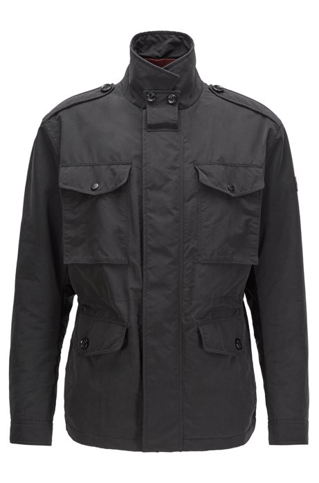 Water-repellent field jacket with light padding, Black