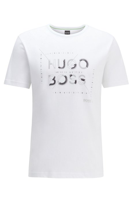 Regular-fit T-shirt with new-season artwork, White