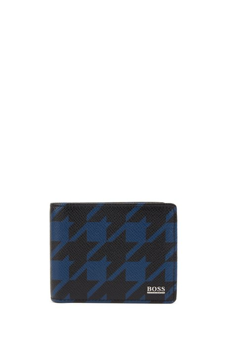 Signature Collection billfold wallet in leather with seasonal pattern, Patterned