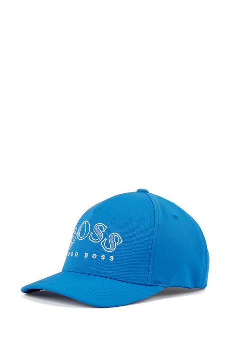 Double-twill cap with curved logo embroidery, Blue