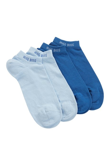Two-pack of combed cotton-blend ankle socks, Light Blue