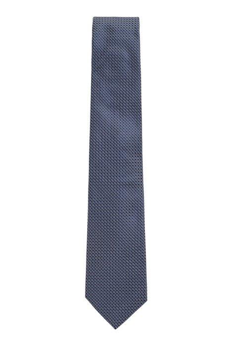 Italian-made silk tie with micro pattern, Light Purple