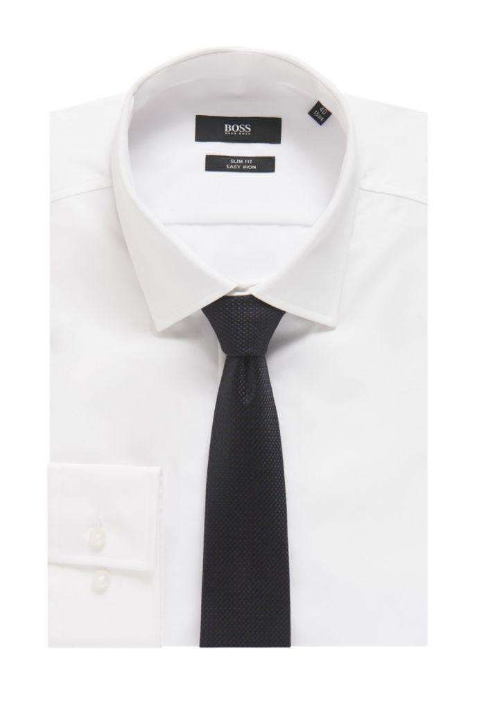Italian-made silk-jacquard tie with micro pattern