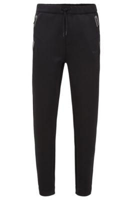 Regular-fit jogging pants with drawstring waist, Black