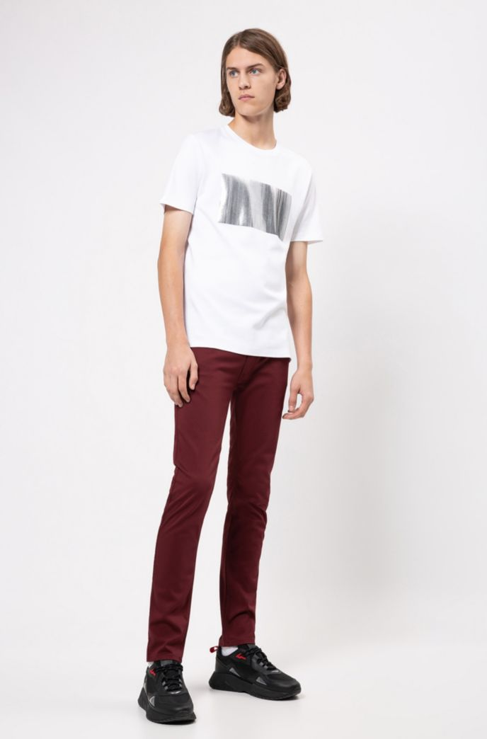 Slim-fit jeans in satin-touch comfort-stretch denim