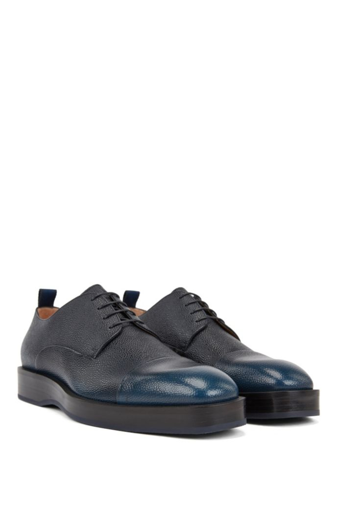 Derby shoes in Scotch-grain calf leather