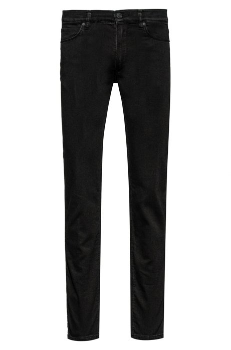 Slim-fit jeans in black-black denim, Black