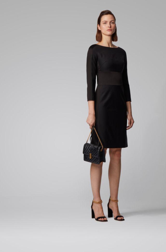 Tuxedo-inspired dress in a wool blend