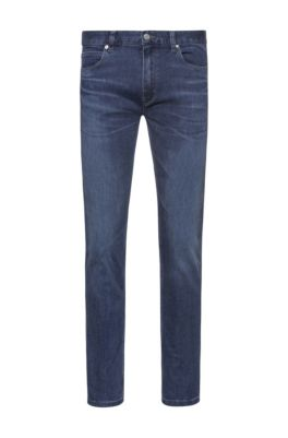 Extra Slim-fit jeans in blue comfort-stretch denim, Blue