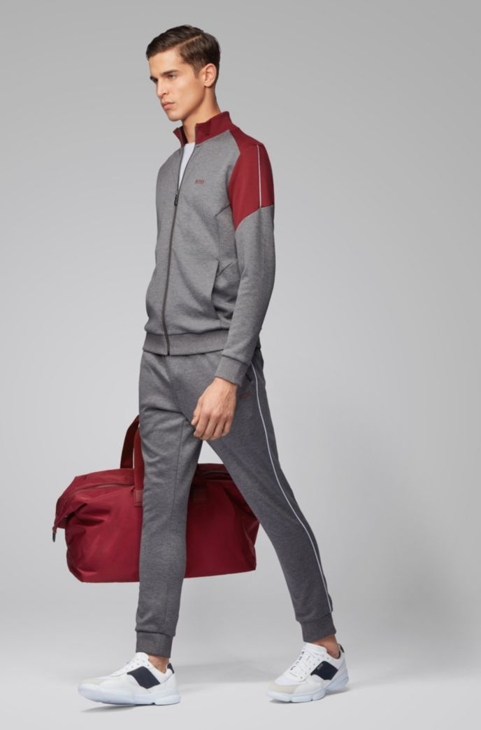 Regular-fit tracksuit with color-blocking